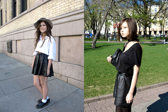 Image: Face Hunter leather skirts
