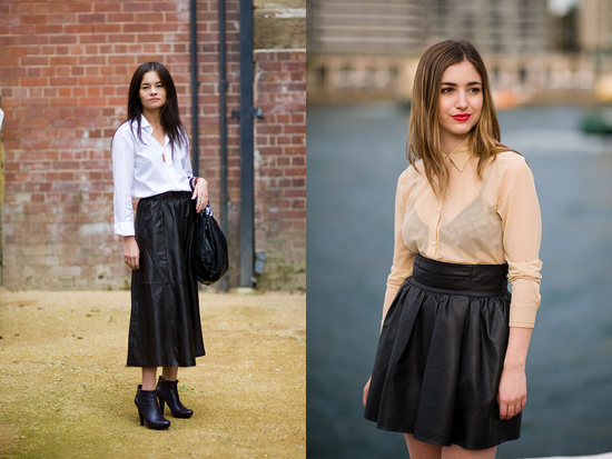 Image: Vanessa Jackman leather skirts