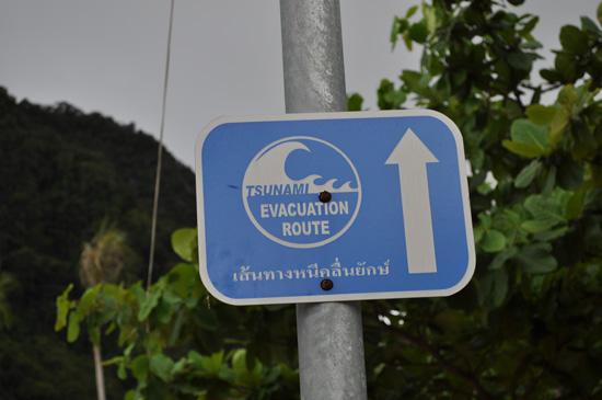 Tsunami Evacuation Sign, Phuket