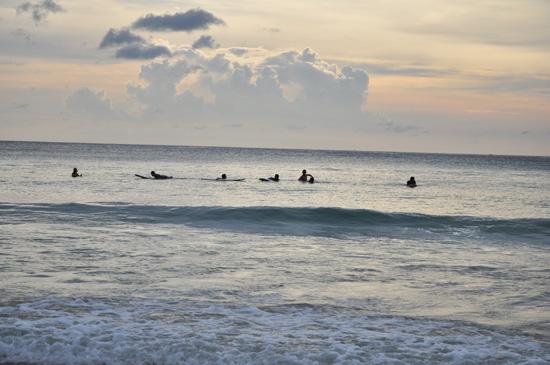 Surfers at Kata Beach Phuket