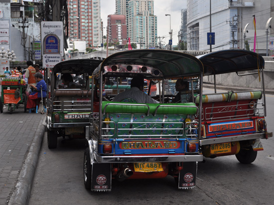 Tuk Tuks on Bangkok street