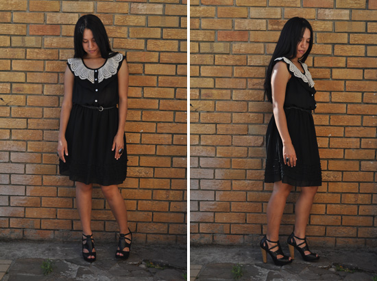 Anthea, Embracing Style, Black Sheer Crochet Dress, Black leather platforms, outift post