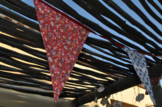 Bunting at kitchen tea