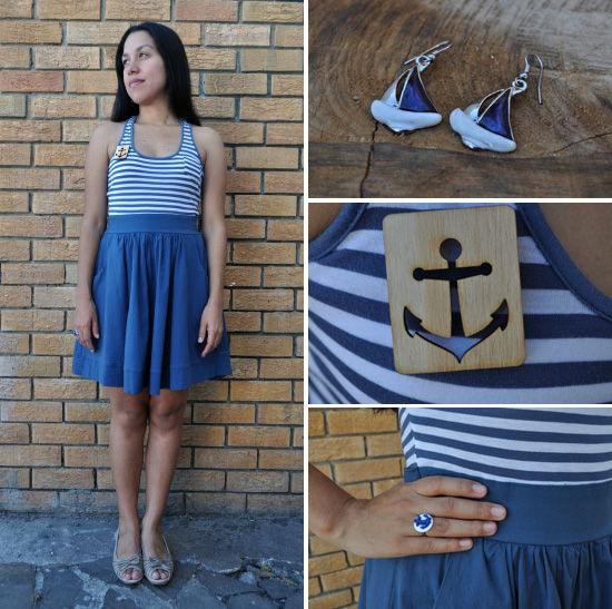 Anthea, Embracing Style, Nautical Inspired outfit
