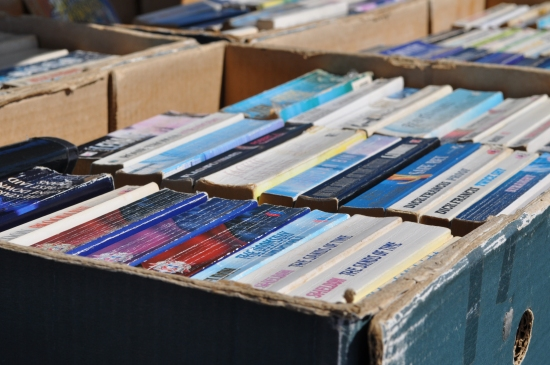Second hand books at Milnerton Market