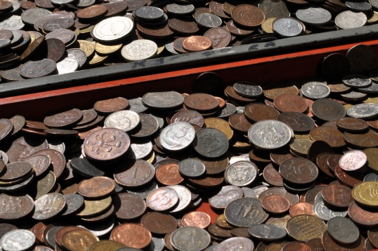 Old coins at Milnerton Market