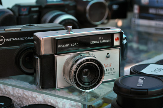 Vintage camera at Milnerton Market
