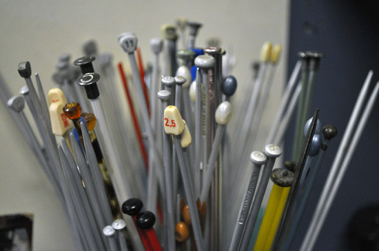 Knitting needles, Overstrand Hospice Shop, Hermanus