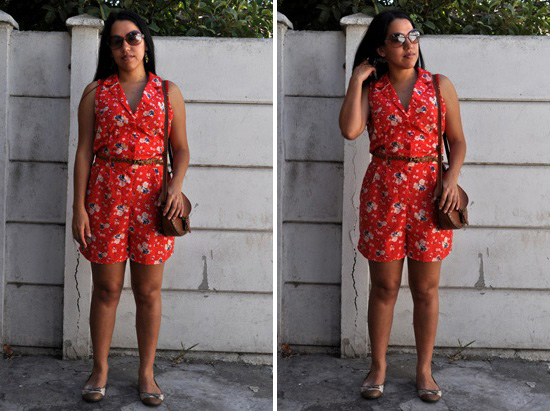 Coral Playsuit outfit