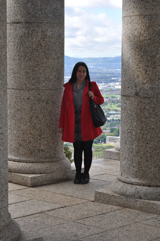 Anthea, Embracing Style, Outfit post, Woolworths Coat, YDE Dress, Aldo Boots