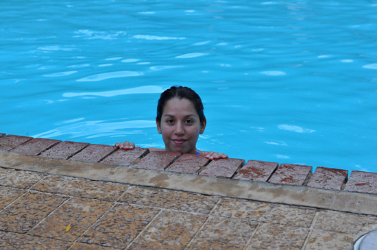 Me swimming