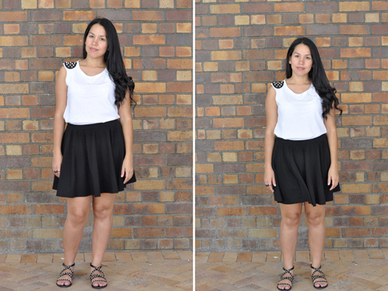 Embracing Style, Outfit Post, Mr Price Top, Cotton On Skirt, Poetry Sandals