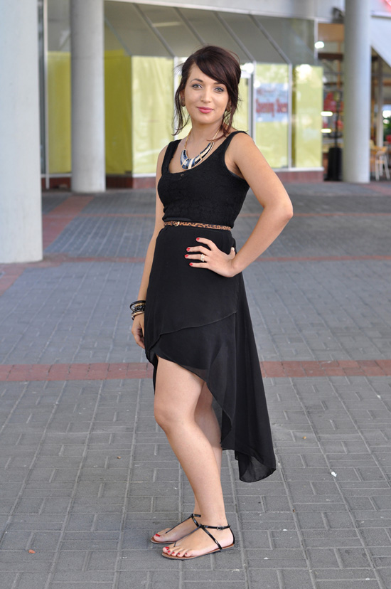 Cape Town South Africa Street Style, Hi-Lo Dress, Statement Necklace