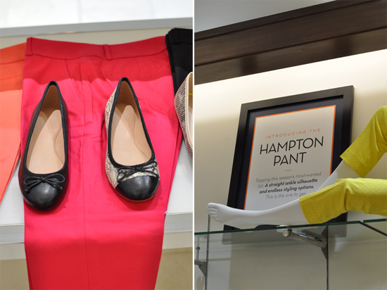 Banana Republic pumps and Hampton Pants at Cavendish Square