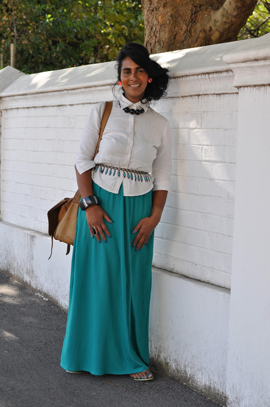 Personal Style, Tania May, Green Maxi Skirt