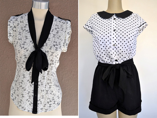 closet space kitty bow and peter pan collar jumpsuit