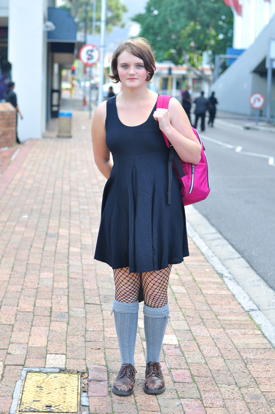 Cape town street style, south africa street style, fishnet stockings