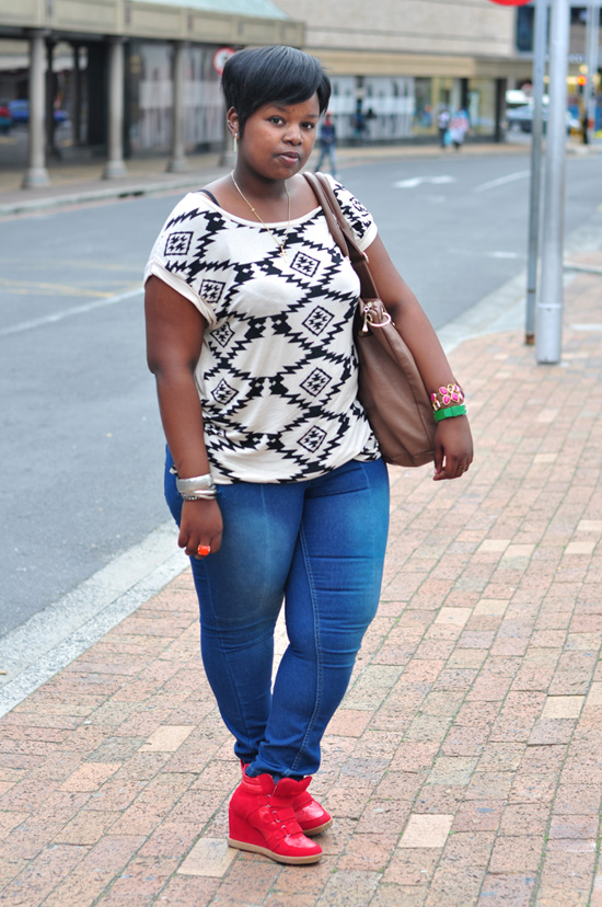cape town street style, south africa street style, red wedge sneakers