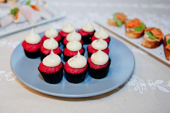 Red velvet cupcakes at Spree Spreeyourself event