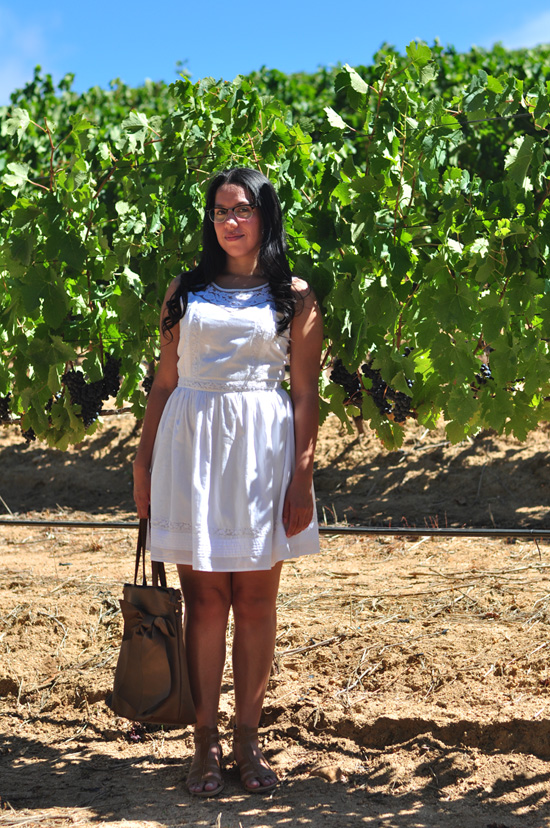Embracing Style outfit post, White New Look dress
