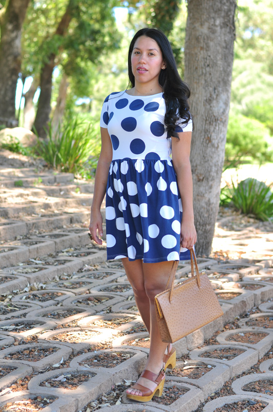 Outfit post, Polka Dot Dress, Clogs