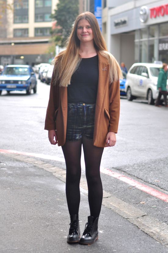 Cape Town Street Style, South Africa Street Style, Embracing Style, Camel Blazer, Velvet Shorts