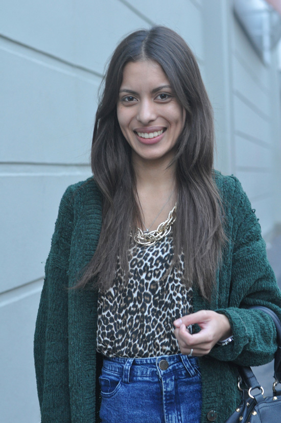 Cape Town Street Style, South Africa Street Style, Nabeelah, Animal Print, Gold chain