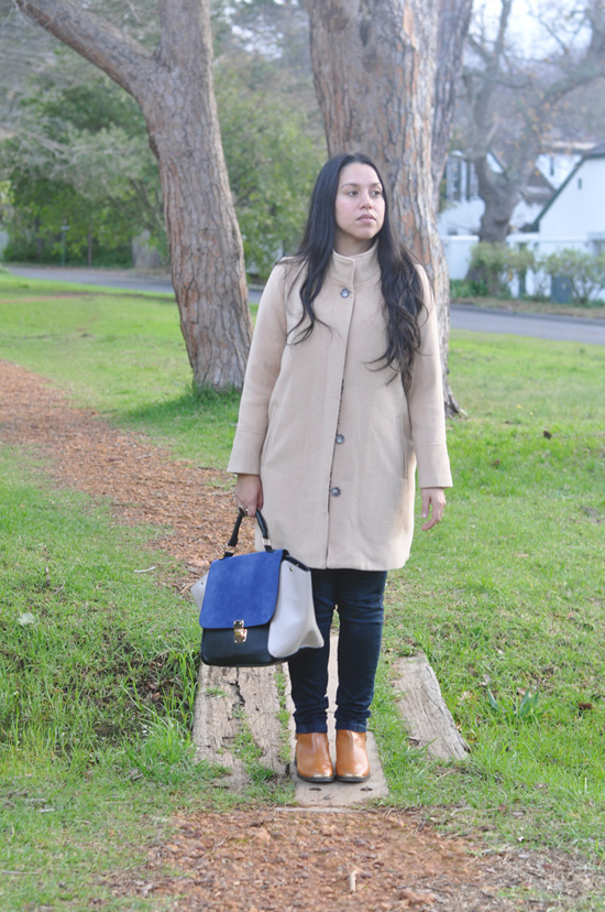 Embracing Style, Outfit post, Cotton On Coat, Mr Price Bag