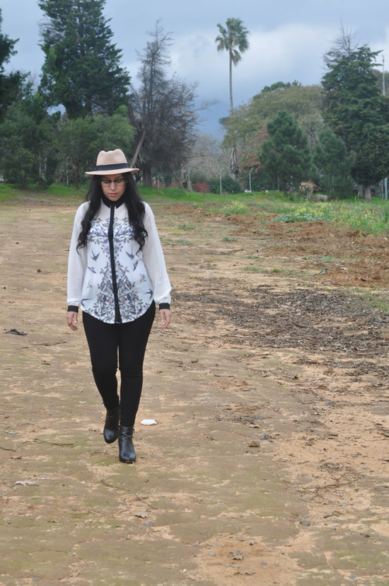 Embracing Style, Outfit Post, Romwe.com Blouse, Mr Price Hat, Zoom Boots