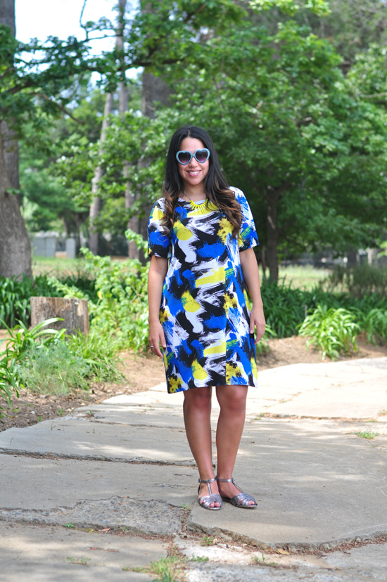 Embracing Style, Outfit Post, Paint Splatter Dress