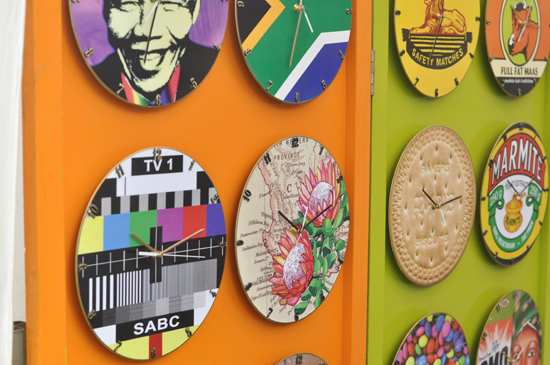 Kirstenbosch Craft Market - clocks