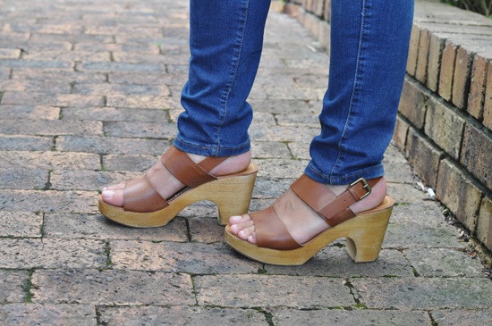 Embracing Style Outfit Post - Cotton On Tan Clogs