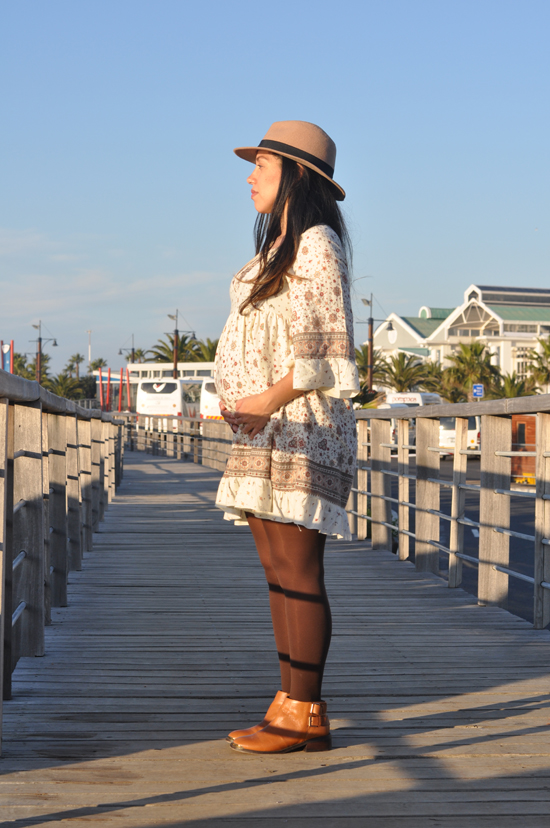Embracing Style, Outfit Post, Platinum Fashion Mall Dress, Mr Price Hat, Cotton on Coat